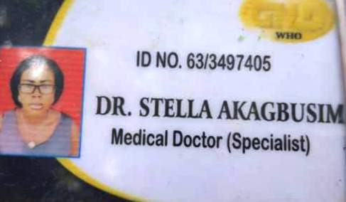 ID Card of alleged fake doctor Stella Akagbusim
