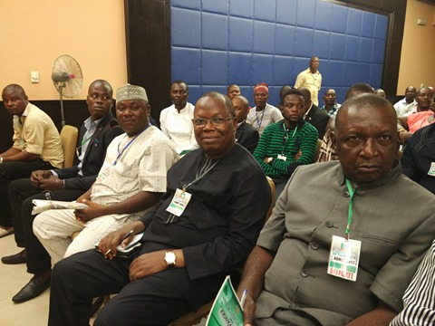 Ntufam Fidelis Ugbo and other chieftains of the party at the retreat
