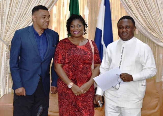 Governor Ayade and Egor Efiok (M)
