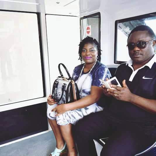Governor Ayade and Egor Efiok in the Calabar Monorail test run