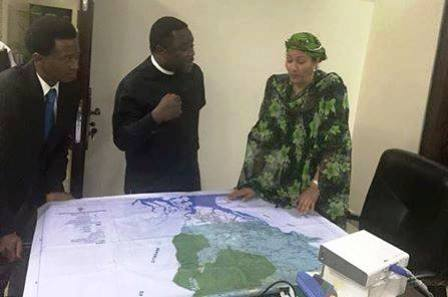 Cross River State Governor, Senator Ben Ayade (M) along with his Senior Special Assistant on Communications and Branding, Dr. Dorncklaimz Enamhe, meeting with the Minister of Environment, Amina Mohammed on Wednesday, 4th of May in her office in Abuja