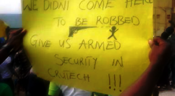 crutech robbery protest5