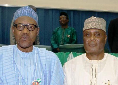 President Buhari and Chief Clement Ebri