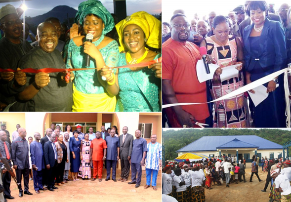 Scenes from the commissioning of the Obudu General Hospital and the health center in Beteng, Obanlikwu