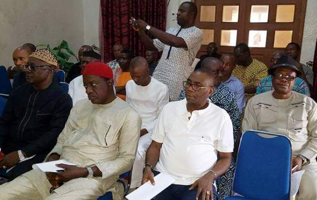 Members of Yakurr Peoples Club during their extra ordinary meeting in Abuja
