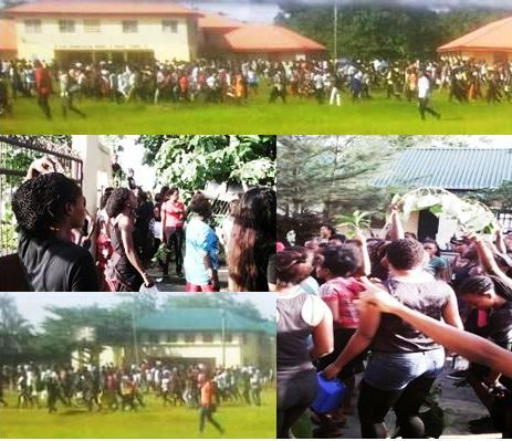 College of Education Akamkpa students protesting
