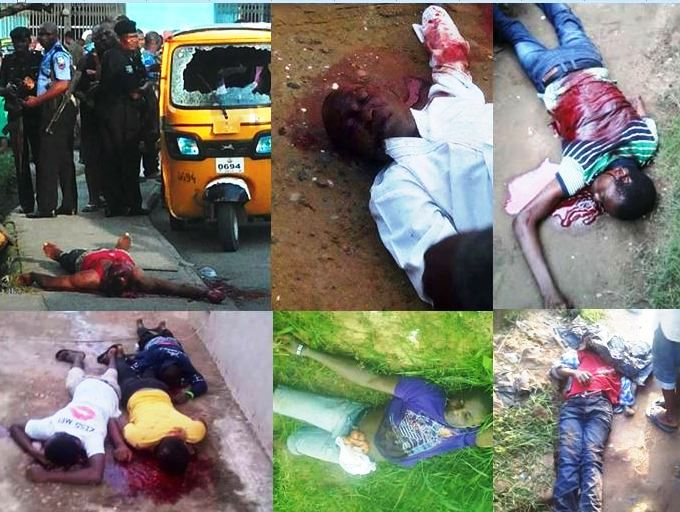 Some of the gory scenes from the Calabar South violence. All those corpses are lying in the morgue (Pictures obtained exclusively by CrossRiverWatch)