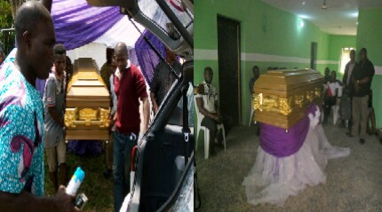 Late Anthony Ofre during the burial rites in Boki