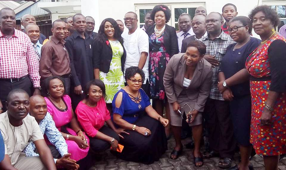 Commissioner for Health, Dr. Inyang Asibong, DG CRSPHCDA, Dr. Betta Edu and other participants in a group photograph after the presentation
