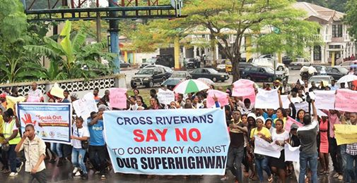 super highway protest2