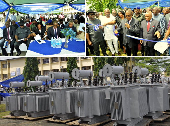 Cross River Deputy Governor, Ivara Esu, commissioning 80 transformers procured by the state in a bid to improve on electricity generation in the state