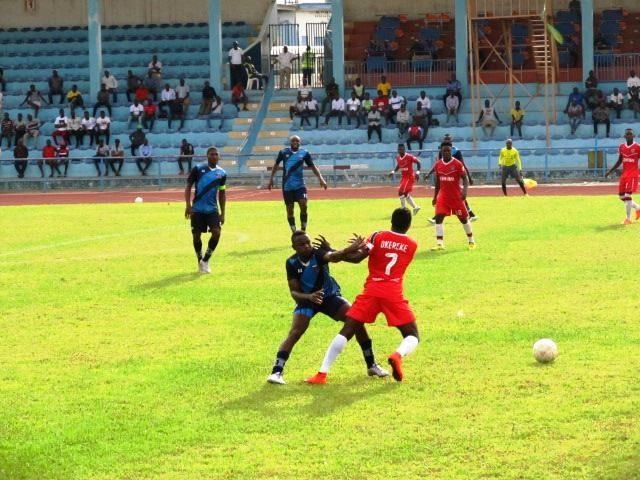 FC Ifeanyi Ubah and Lobi Stars of Makurdi contending at the UJ Esuene Stadium in Calabar, Thursday