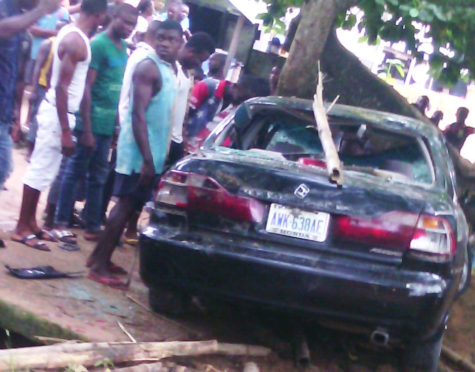 The car involved in the accident