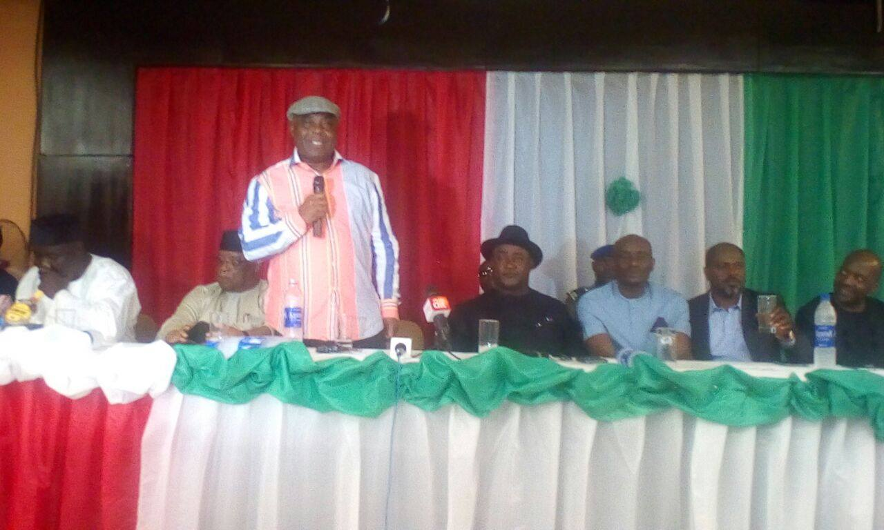 Dokpesi addressing the delegates