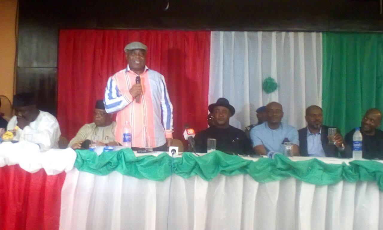Dokpesi addressing the delegates