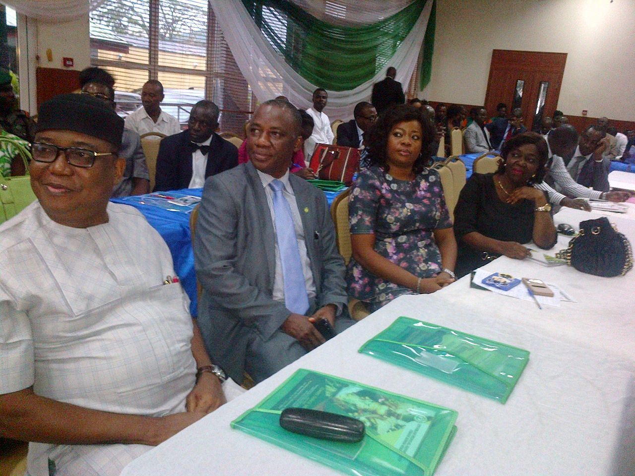 From Right; Climate Change Commissioner Alice Ekwu, Health Commissioner Inyang Asibong and other officials at the event