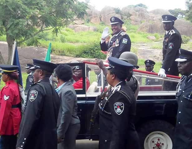 AIG Joseph Mbu during the Pulling Out Parade
