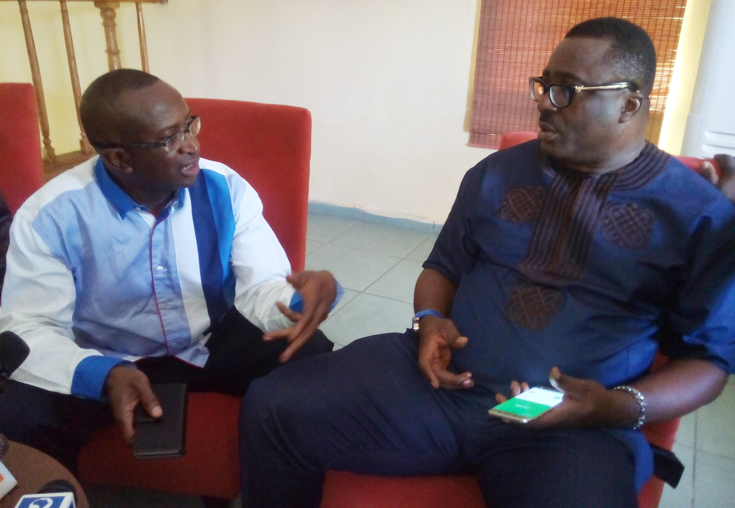 NDDC Chairmanship nominee, Senator Ndoma Egba and APC National Vice Chairman, South South, Prince Hilliar Eta