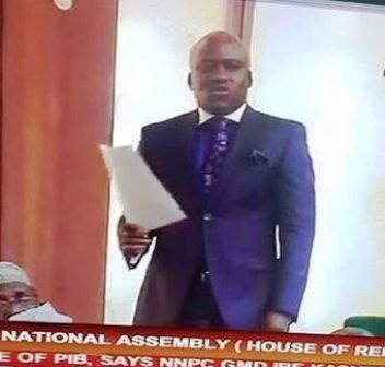 Hon. Legor Idagbo on the floor of the House of Representatives