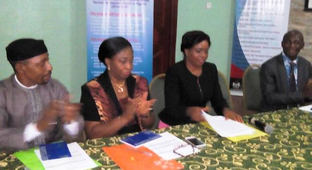 State Commissioner for Health, Dr. Inyang Asibong and representatives of MTN Foundation while signing the MoU