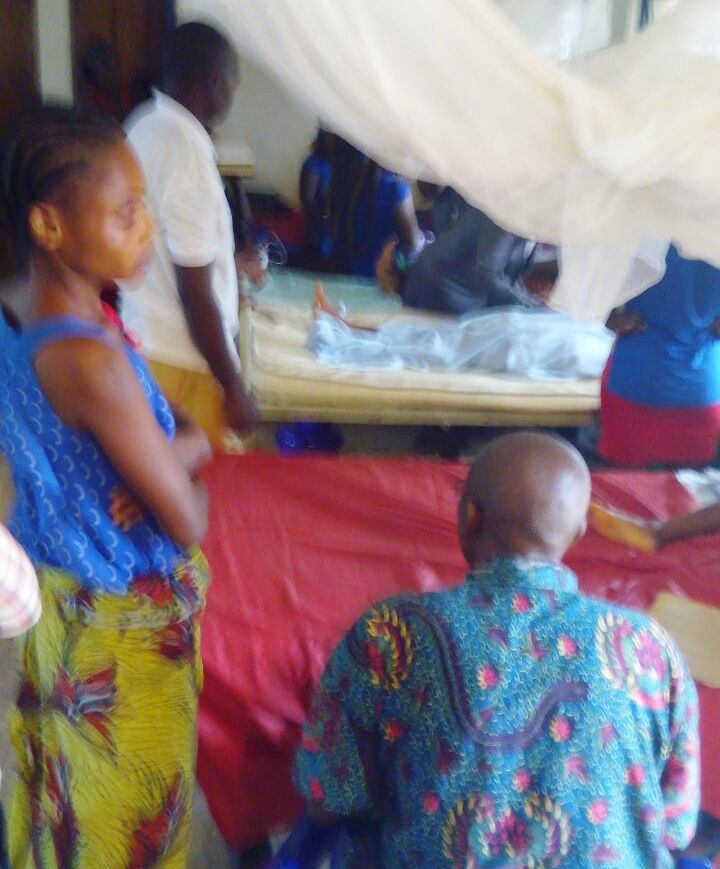 Nurse Getrude Ayendi pictured by CrossRiverWatch at the Primary Health Center in Ohong, Obudu