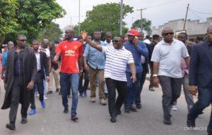 Ayade waving to onlookers