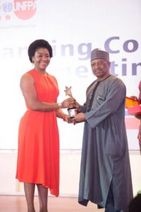 Dr Linda Ayade been presented with the award by Minister for state health, Osagie Enahire