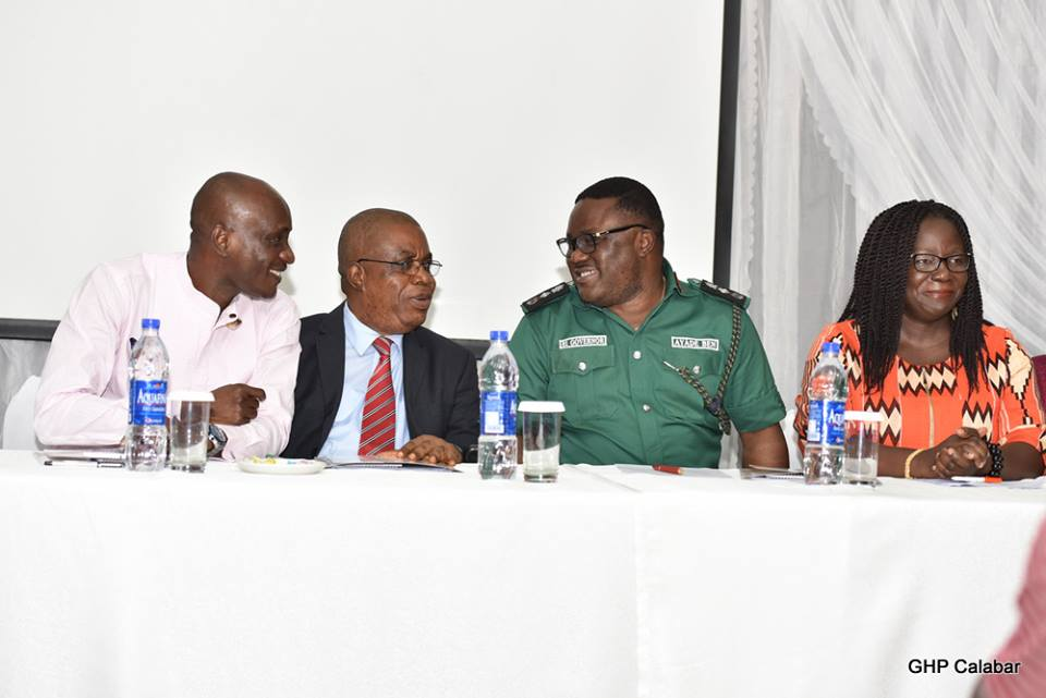 (From L-R) Speaker CRSHA, RT. Hon. John Lebo, Deputy Governor, Prof. Ivara Esu, Governor Ben Ayade and Elsie Attafuah at the event
