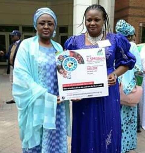 (From L-R) Aisha Buhari and her lawyer, Mary Ekpere