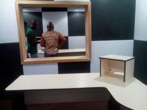 Interior of FAD fm studio (photo credit; CrossRiverWatch.com)