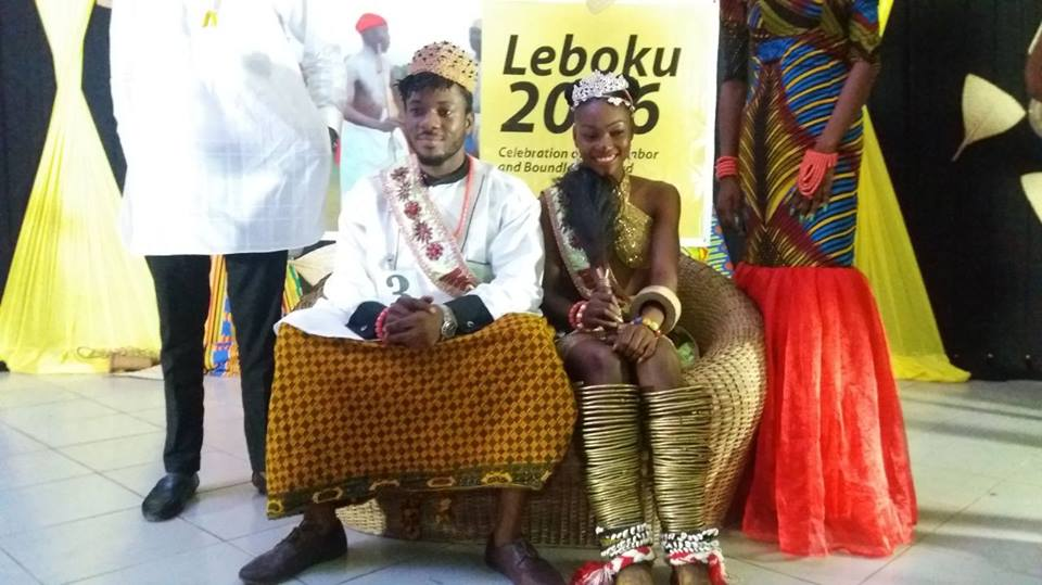 (L-R)Hillary Daniels and Obia Essien 2016 Mr and Ms Leboku pageant winners