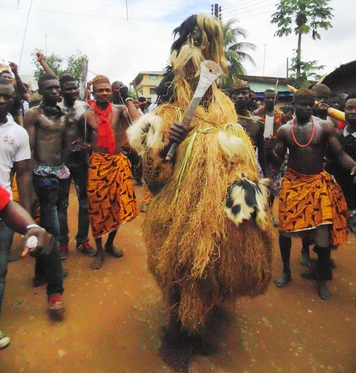Etangala Carnival during the Male day (Ladenboku) at the Umor Otutu place