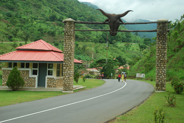 Entrance to the Obudu Mountain Resort Bottom Hill (file picture)