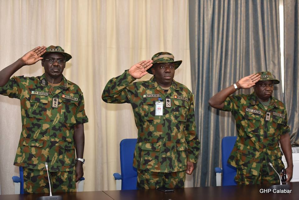The Soldiers Salute during the rendition of the National Anthem