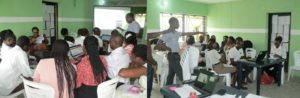 Cross section of the training.