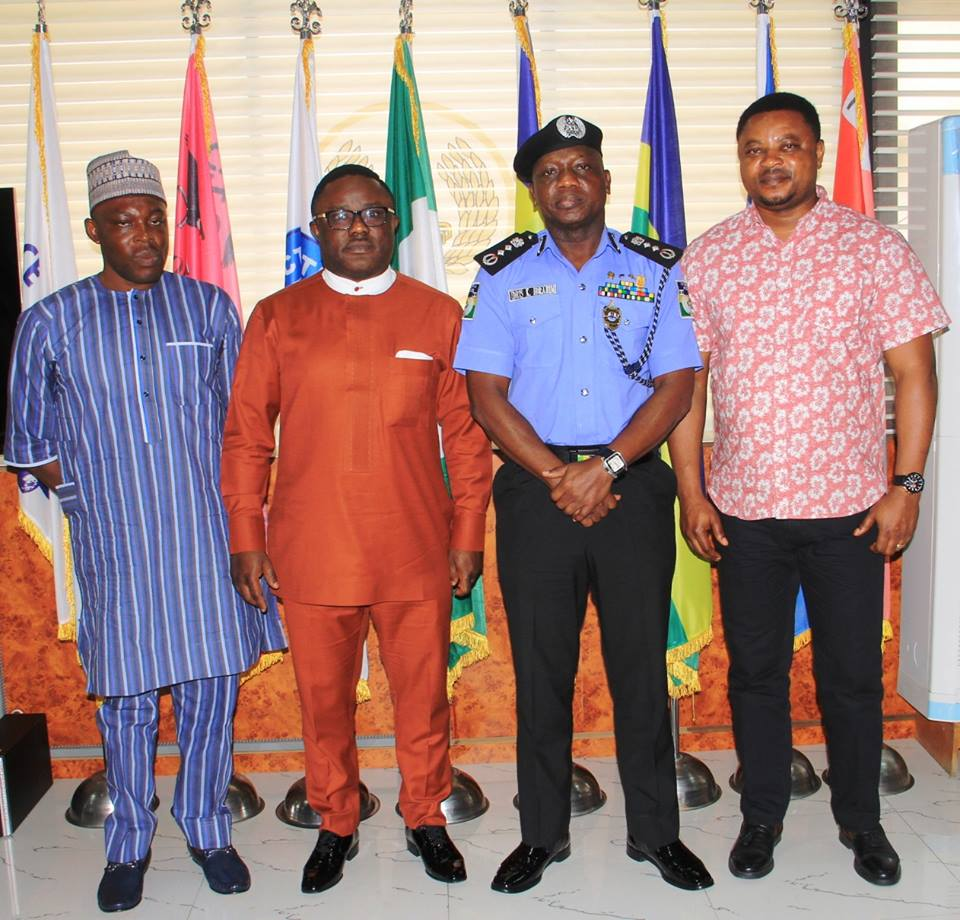 From L-R: KJ Jedy Agba, Governor Ben Ayade, IGP Ibrahim Idris and Martins Orim shortly after meeting in Abuja, this morning