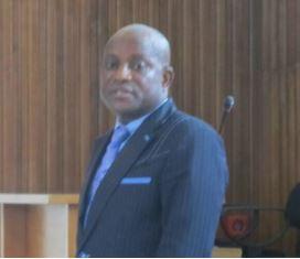 Chief Offu Aya at the hearing