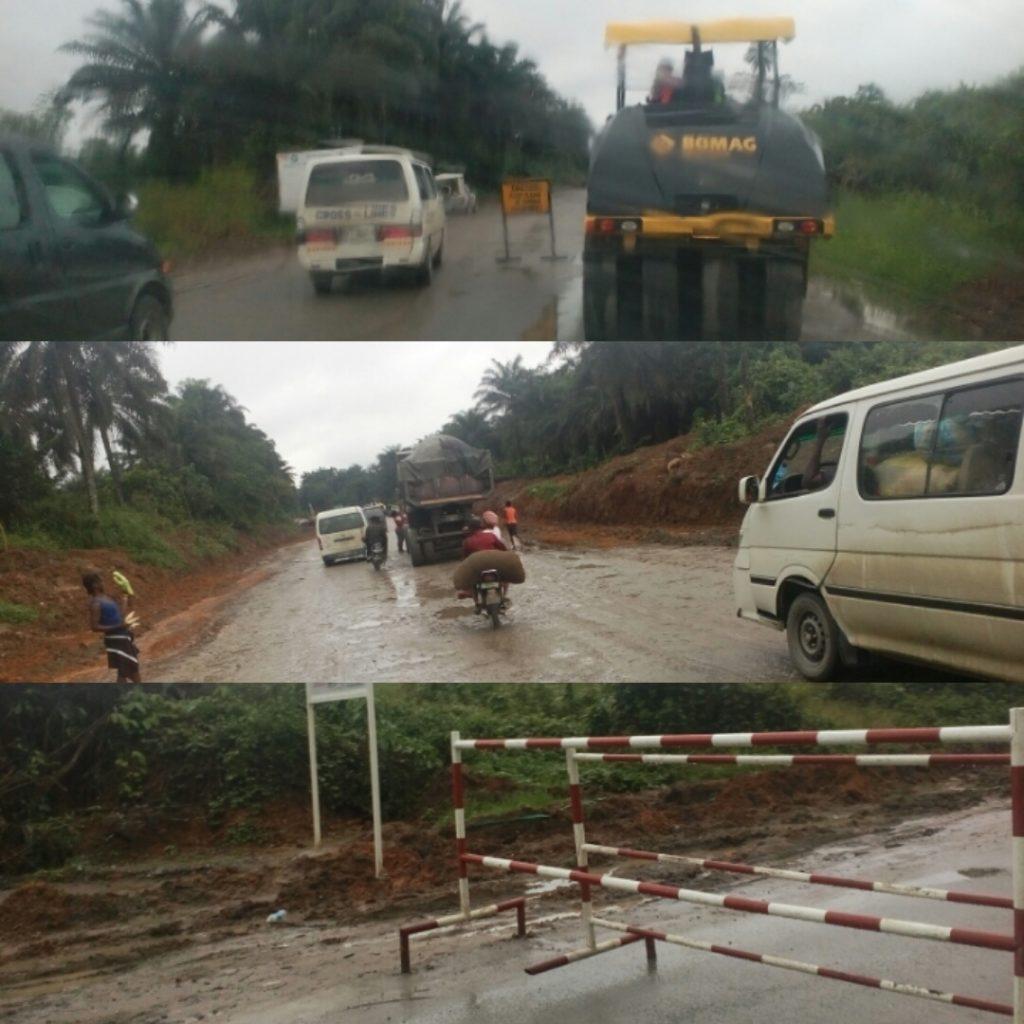 Ongoing rehabilitation of the Calabar - Itu road