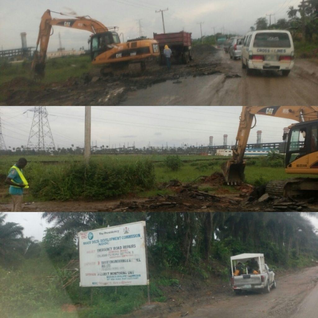 Ongoing rehabilitation of Calabar - Itu road