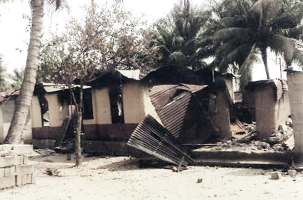 Scene from the recent communal crisis in Abi LGA