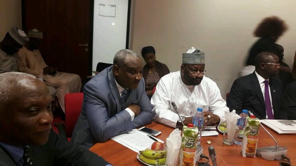 Obono Obla facing the Senate Committee on Communication