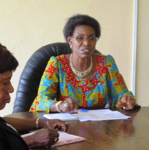 State Civil Service Commission Chairman Barrister Rosemary Obanya while briefing journalists in her office