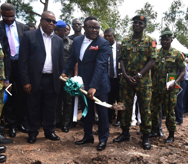 Governor Ayade and the Chief of Army Staff, Lt. Gen Tukur Buratai at the project site