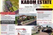 ADVERTORIAL: Mortgage Subscription Opens At Kabom Estate, Phase 1 Anyana-Nse Calabar
