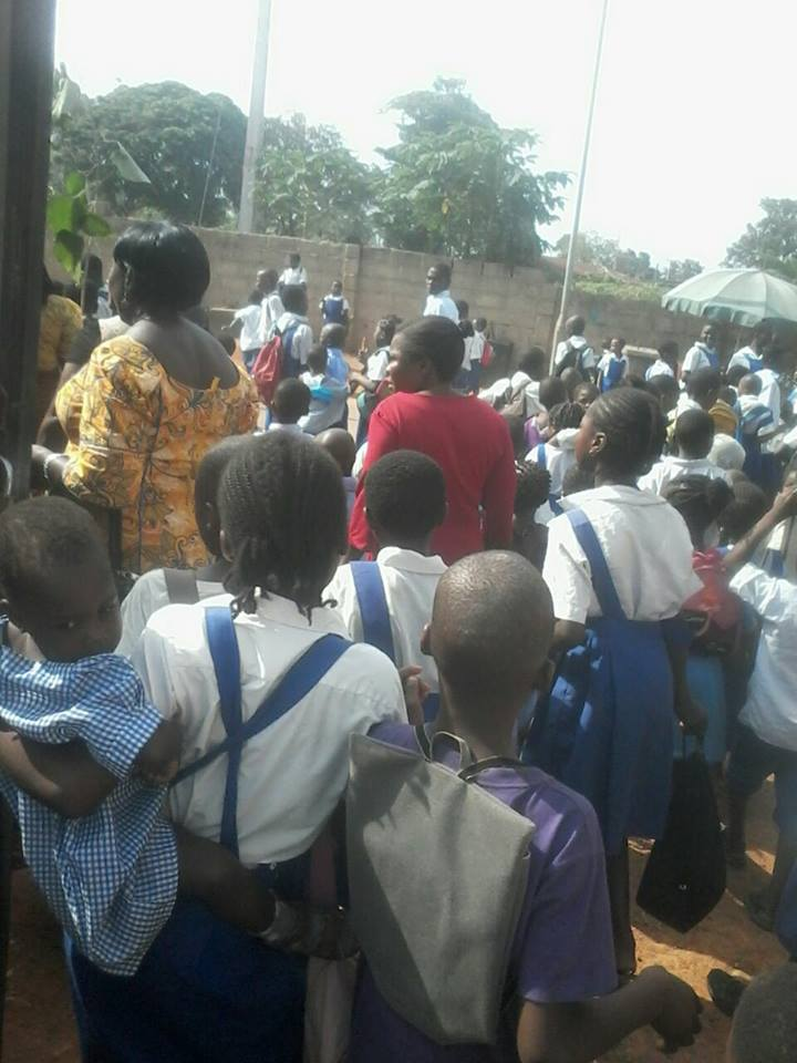 Pupils join teachers in protesting non payment of salary arrears