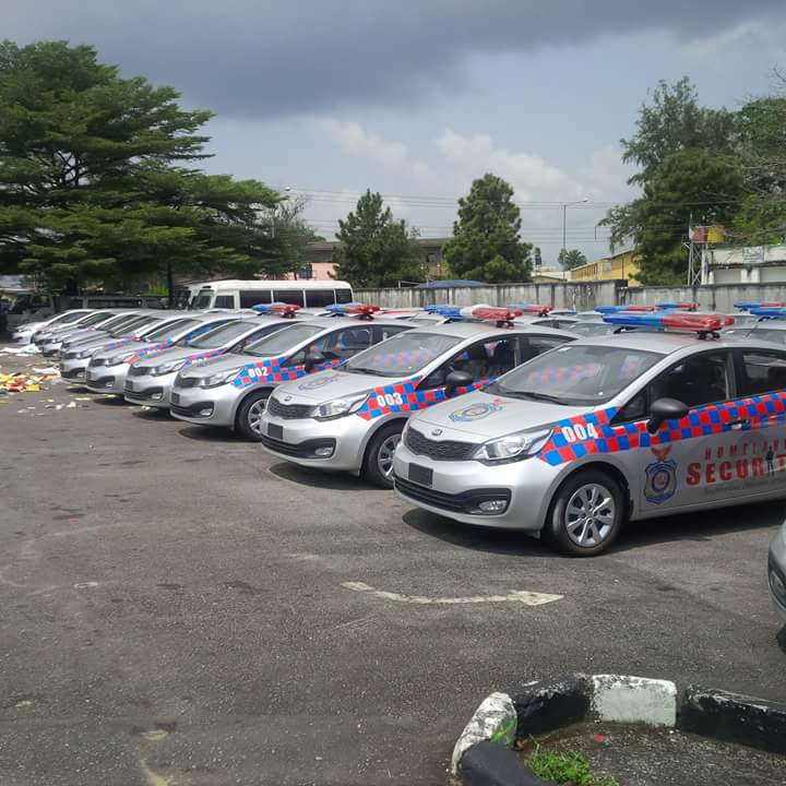 The branded vehicles to be distributed, Wednesday (Photo Credit; Facebook/EmmanuelUlayi)