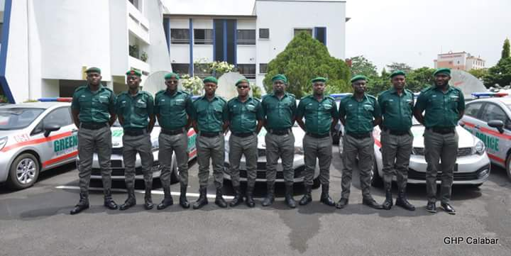 The 10 cadets pose in front of their vehicles(Photo Credit: Govt House Calabar/Dan Williams)