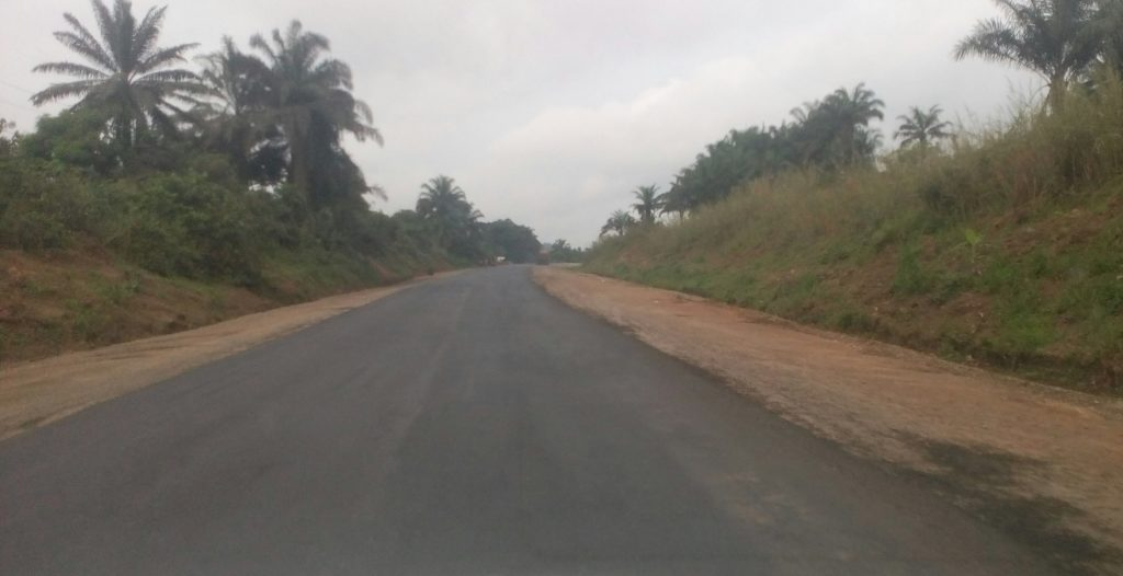The Okoyong axis of the Calabar - Itu road now rehabilitated