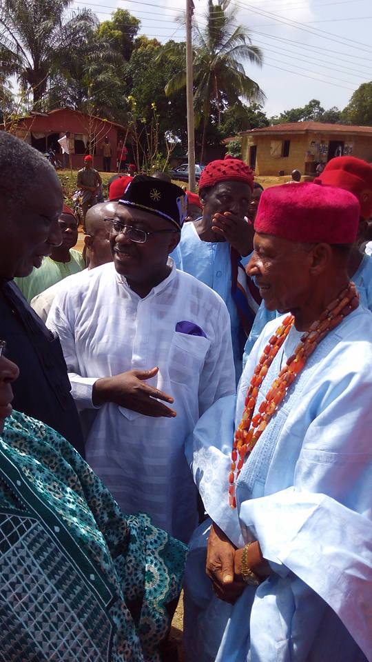 Professors James Epoke,ZanaAKpagu and UTI JD Agba,Paramount Ruler of Obudu exchange pleasantries at the event
