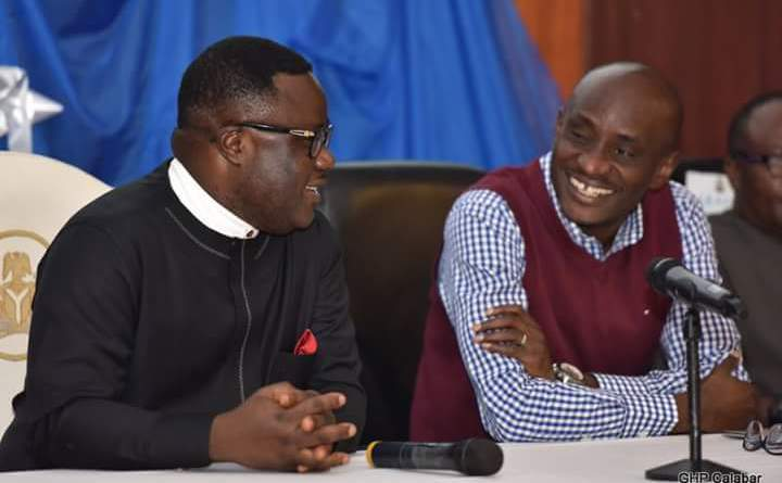 Governor Ben Ayade and Honorable John Lebo (Photo Credit: Govt House Calabar/Dan Williams)